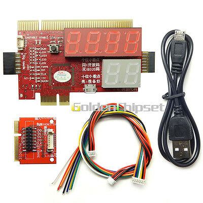 New PCI PCIE MiniPCI-E Diagnostic Card for PC Laptop Tester Notebook Debug card