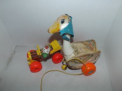 Fisher Price Mother Goose pull toy - 164 & Fisher price Jalopy 724  Made in USA