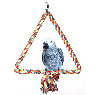 Bird Pet Parrot Chew Toys Hanging Cockatiel Parakeet Swing Cage Easy to Use