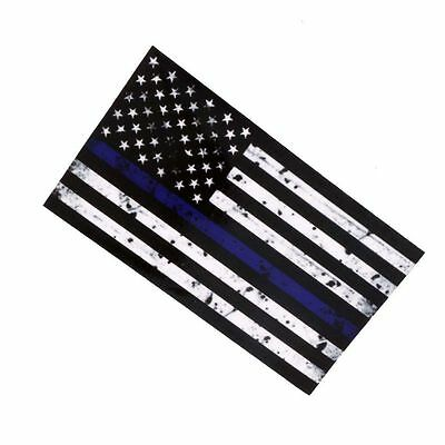 Fashion 1PCS New American Flag Thin Blue Line Sticker Decal USA Lives Matter Law
