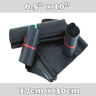 200 Black Strong Plastic Mailing Postal Poly Postage Packing Bags 6x9 17x30cm