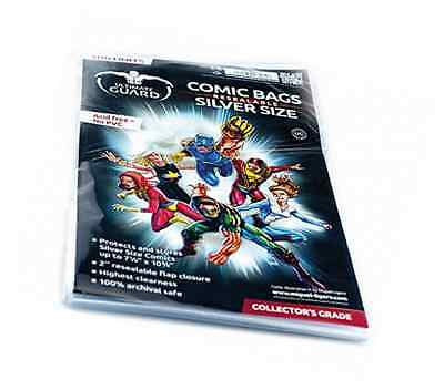 Comic Bags Resealable (Silver Size, Pack of 100)