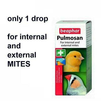 Beaphar Pulmosan 10 Ml for parasites and mites budgie finches parrot