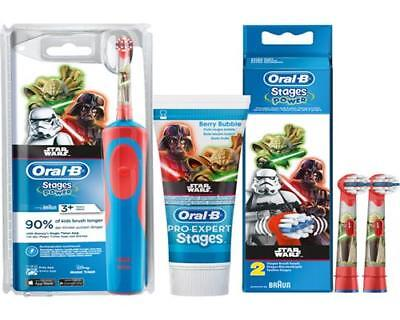 Braun Oral-B Stages Power Akku Zahnbürste Kinder D12.513.K Spar-Set 2 STAR WARS