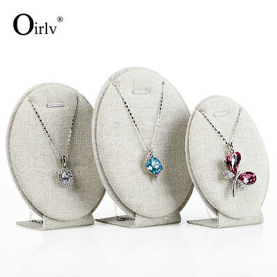 Oirlv Jewelry Display Pendant Necklace Holder Displays Oval Egg Shape Stand Set