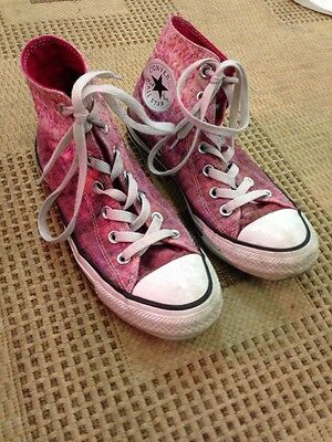 UK Size 5 Converse All Star Pink Mix High Top Lace Up Trainers