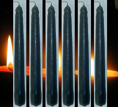 6 Solid Black Spell Candles 2 Hour Ritual 13 cm