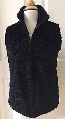 New! CHICO'S Vest Jacket Size 0 Black Sleeveless Zip Front Lined Textured NWOT