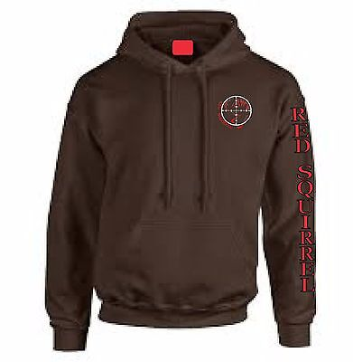 Carp Fishing Hoody, Red Squirrel Classic!  (Colour Chocolate Brown.)