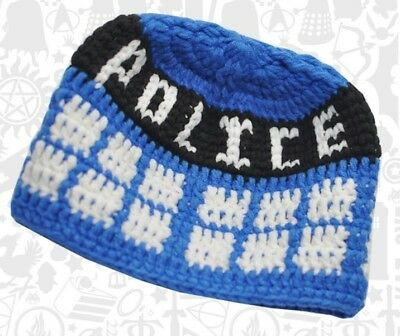 Tardis Beanie Child Baby Doctor Who BBC Geek Fan Blue Cotton Cute Costume Time