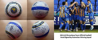 2011-12 Shrewsbury Town Official Football Signed Promotion Winning Squad (9524)