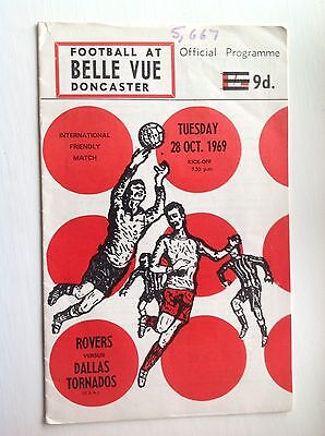Doncaster Rovers V Dallas Tornadoes 28.10.1969