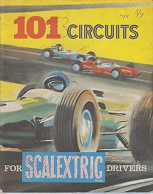 TRIANG SCALEXTRIC ELECTRIC SLOT CAR RACING CIRCUIT PLANS BOOK ( 1960s EDITION )