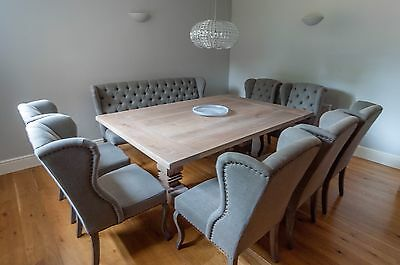 Wide oak dining table 1.5m wide x 2.2m bespoke sizes welcome