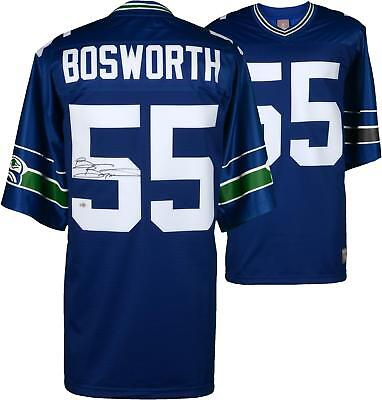 Brian Bosworth Seattle Seahawks Signed Blue Proline Jersey w/ #55 Insc