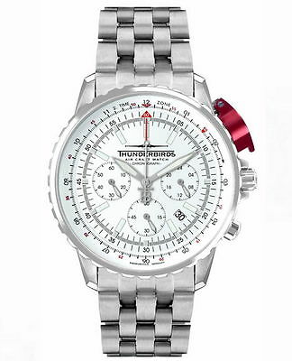 Thunderbirds Fighting Steel Pro 1052-2 Chronograph  Watch  Herrenuhr Fliegeruhr