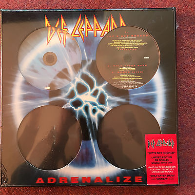DEF LEPPARD ADRENALIZE LIMITED EDITION CD SINGLES COLLECTOR'S BOX with DEF CD7