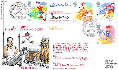 Rfdc 62 Official Military Cover-Sport-Signed Brigadier & Lieutenant Colonel-1988