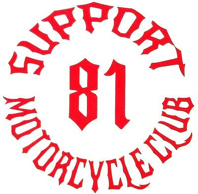 81 Supporter/Hells Angels Decal/Sticker Gear