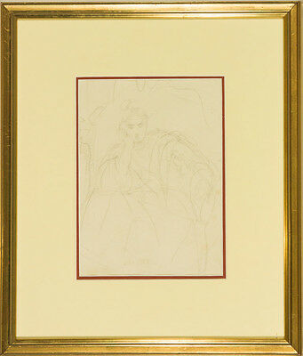 Attrib. to Charles Turner - 19th Century Graphite Drawing, Study of Seated Lady