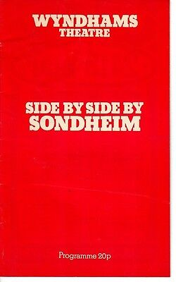 Side by Side by Sondheim - 1976 West End Theatre program