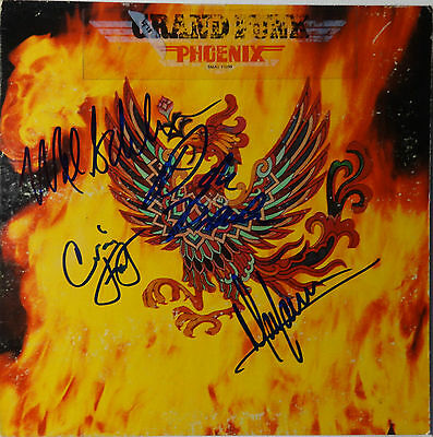 """Signed Autographed Grand Funk Railroad 12"""" Lp Certified Authentic Jsa Loa Y73984"""