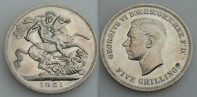 Festival Of Britain Issue 1951 Five Shilling Coin Of George VI - Green Boxed