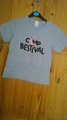 Joblot of 7 Grey T-shirts & 7 Grey Hoodies Camp Bestival 3/4 yrs Unisex