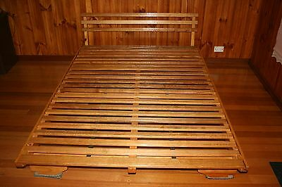 Solid Timber Pine Futon Bed Base Size Double