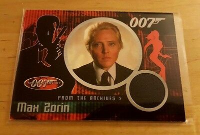 James Bond 40Th Anniversary Costume/relic Card Cc2 (2002) Christopher Walken