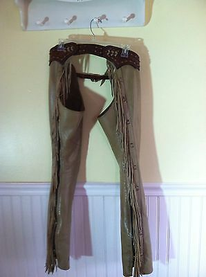 Beautiful Authentic Parelli Fringed Full Length Chaps Size Custom Small