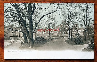 Posted 1904 Printed Colour Postcard Newcastle-On-Tyne Heaton Park