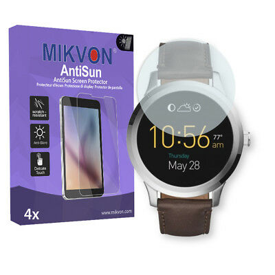4x Mikvon AntiSun Screen Protector for Fossil Q Founder 2.0 Retail Package