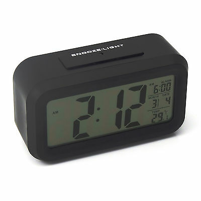 Digital LCD Snooze Electronic Alarm Clock with LED Backlight Light Calender