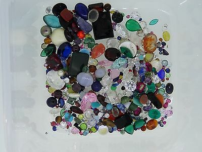 1. lot of loose gemstones gems from scrap gold mixed lot