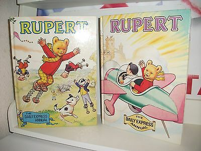 2 X Vintage Rupert the Bear Annuals Very Good Used Condition