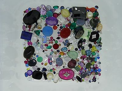 3. lot of loose gemstones gems from scrap gold mixed lot