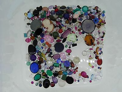 6. lot of loose gemstones gems from scrap gold mixed lot