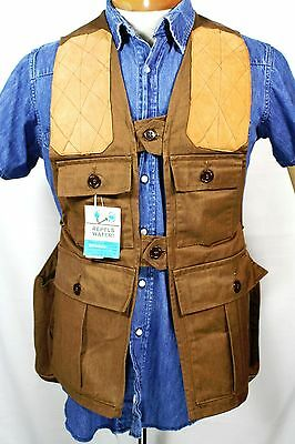 VINTAGE NEW OLD STOCK IDEAL HUNTING VEST SMALL With GAME POUCH
