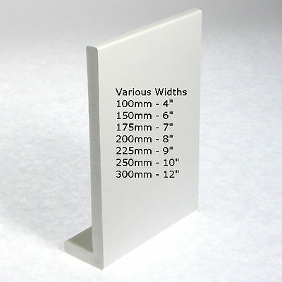 UPVC Plastic Fascia Cover Capping Board Various Widths 2 x Full 5 Metre Lengths