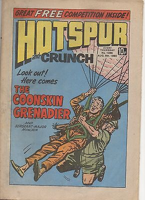 Hotspur And Crunch 1086 Very Fine 9Th Aug 1980 Dc Thomson Uk Comic
