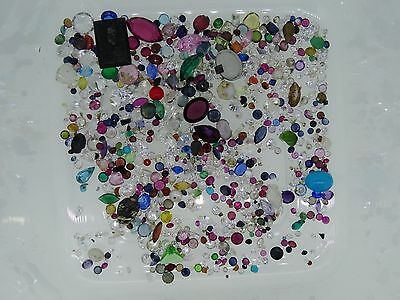 9. lot of loose gemstones gems from scrap gold mixed lot