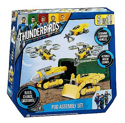 Thunderbirds Are Go 5 in 1 Pod Assembly Set Toy
