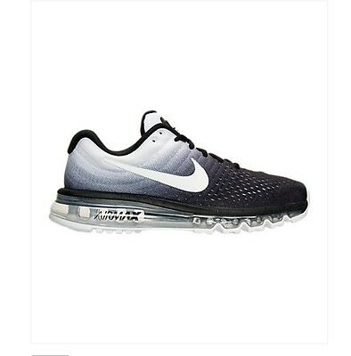 NEW Men s Nike Air Max 2017 Running Shoes 849559-010 Black White 2016 f1 e49b056ac