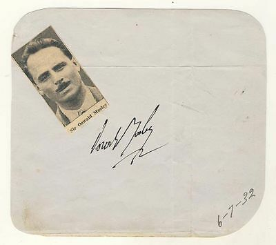 Oswald Mosley, Signed Album Page 1932, + Noel Gay