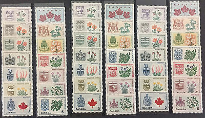 Canada # 417-429A - Provincial Flowers - 3 Complete Sets