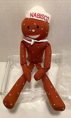 Vintage Russ Berrie ~ NABISCO ~ Mr Salty promotional plush.  New Old Stock!