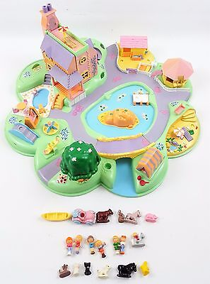Vintage Polly Pocket 1991 Polly's Dream World 100% Complete Bluebird 18 Figures