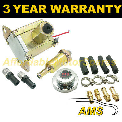 Variable 1-5 Psi Pressure Regulator 6Mm 8Mm 10Mm Tails Included + 12V Fuel Pump