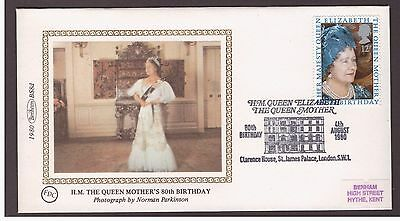 Great Britain 1980 Queen Mother  Birthday Clarence House postmark Benham cover